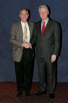 Jonathan Wygant and Bill Clinton