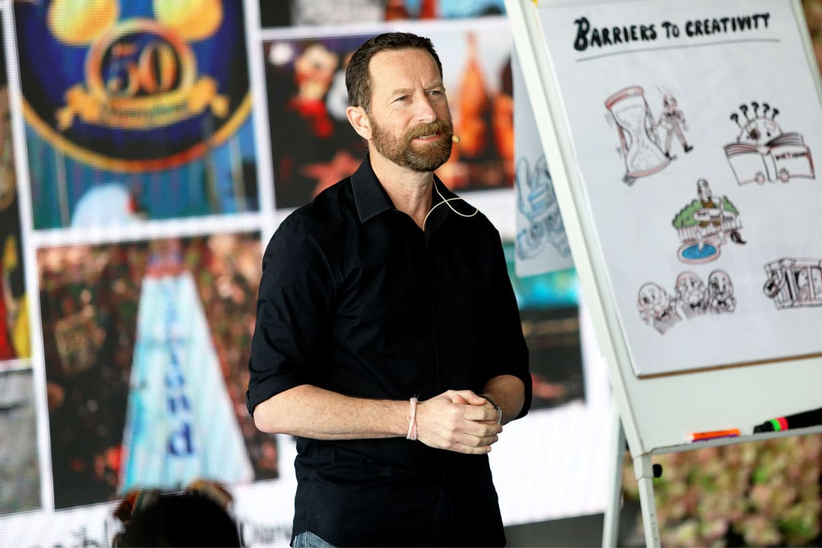 Duncan Wardle leading a creativity workshop