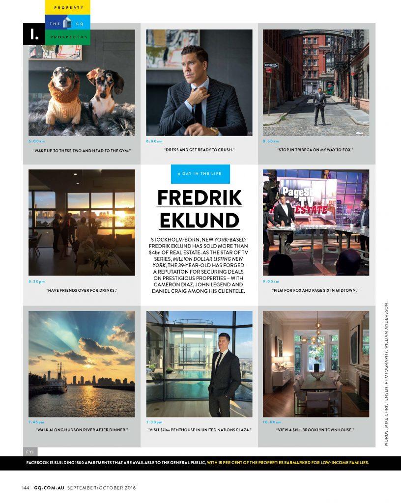 GQ Australia - Fredrik Eklund