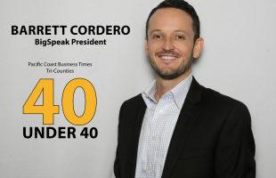 BigSpeak President Barrett Cordero Awarded 40 Under 40