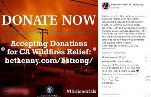 Bethenny Frankel's bstrong Program is Donating to California Wildfires